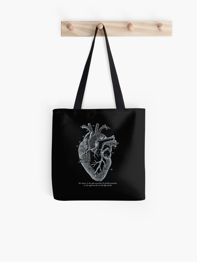 'Parts of Heart' Awesome Cardiology Parts of the Heart   Tote Bag