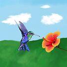 The very hungry hummingbird by RulaVam