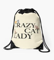 Crazy Cat Lady Drawstring Bag