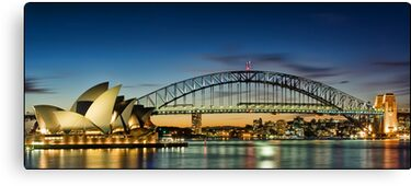Opera House ~ Harbour Bridge Canvas Print