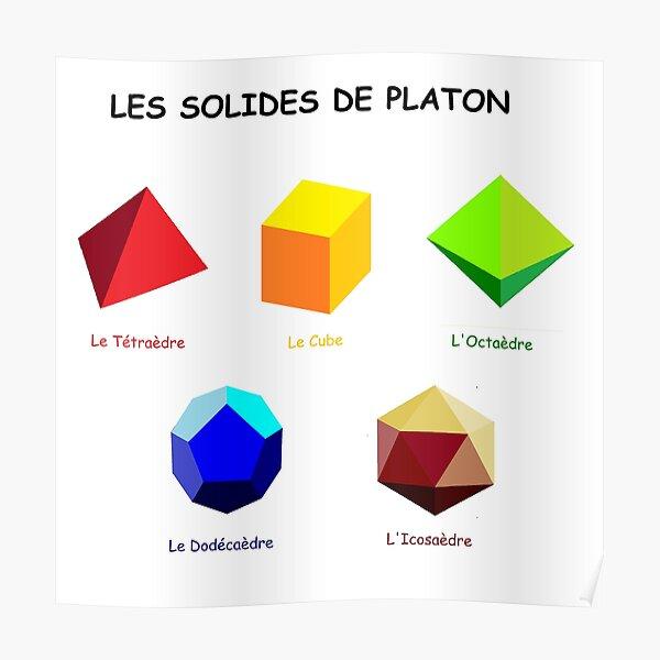 Les solides de Platon Poster