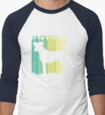 Cute Jack Russell Terrier Silhouette Men's Baseball ¾ T-Shirt