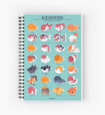 Goldfish Breed Poster Spiral Notebook