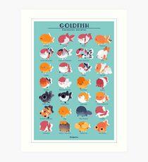 Goldfisch-Zucht-Plakat Kunstdruck