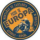 Picos de Europa Motorcycle T-Shirt + Sticker  by ROADTROOPER