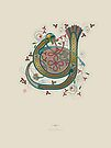Celtic Initial Y by Thoth Adan