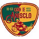 Canon De Anisclo Motorcycle T-Shirt + Sticker by ROADTROOPER