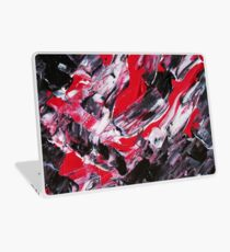 black red and white abstract art painting mixed media laptop
