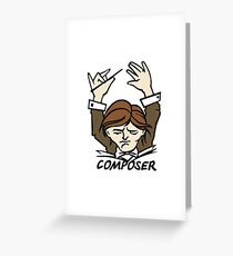 composer Greeting Card