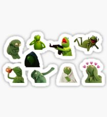 Pegatina Juego de pegatinas Kermit Meme