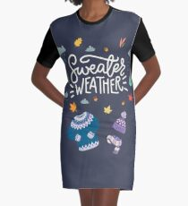 Sweater Weather Graphic T-Shirt Dress