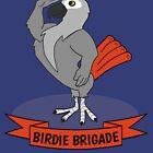 Birdie Brigade African Grey Parrot  by einsteinparrot