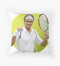 Roger Federer Ball an einer Schnur Dekokissen