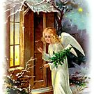 Angel Blessing For Christmas by Marie Sharp