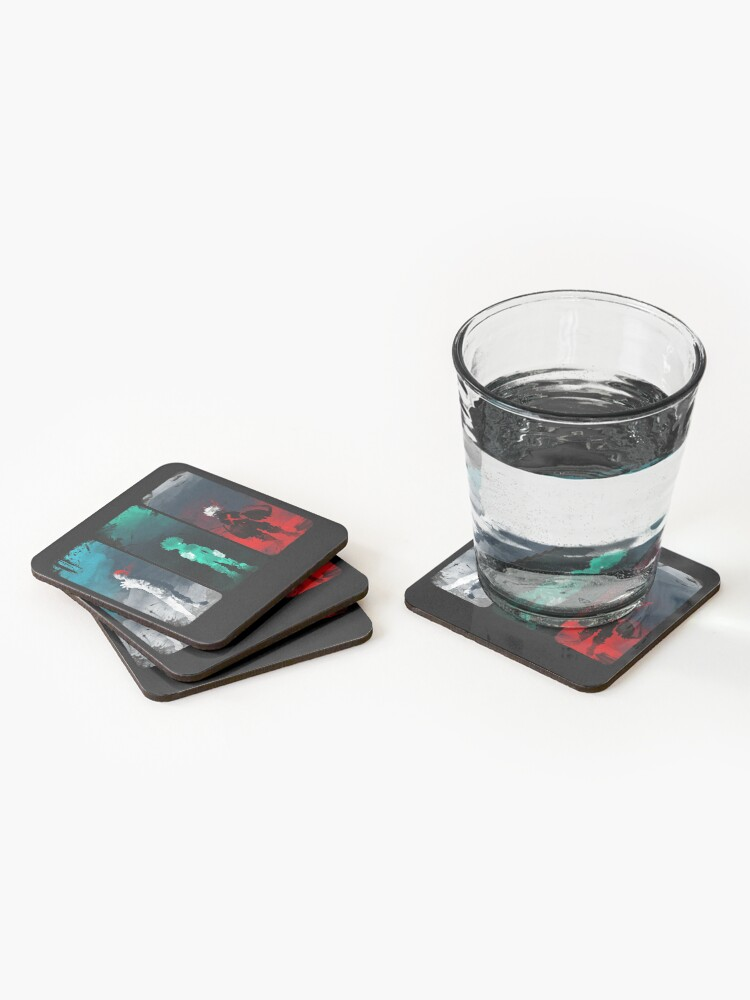 Alternate view of What's your power? Coasters (Set of 4)