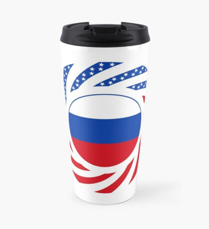 Russian American Multinational Patriot Flag Series Travel Mug