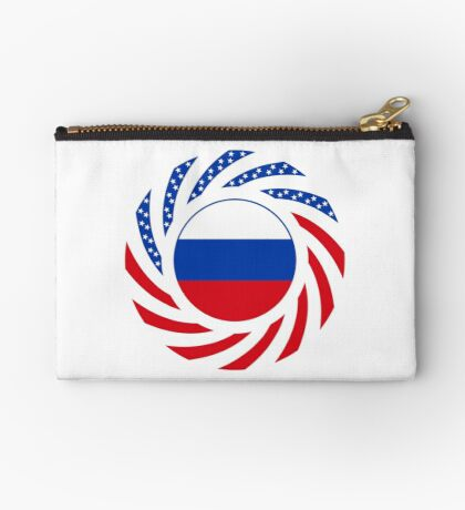 Russian American Multinational Patriot Flag Series Zipper Pouch