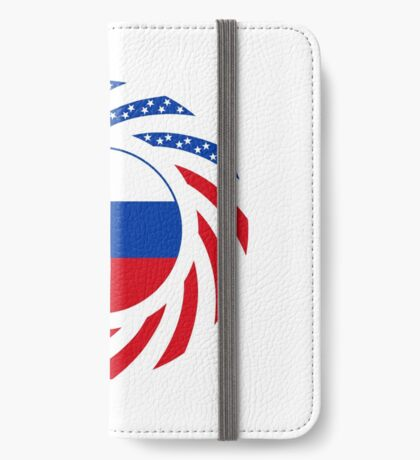 Russian American Multinational Patriot Flag Series iPhone Wallet