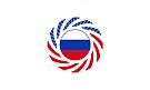 Russian American Multinational Patriot Flag Series by Carbon-Fibre Media