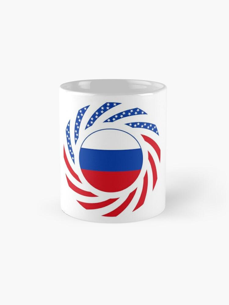Alternate view of Russian American Multinational Patriot Flag Series Mug
