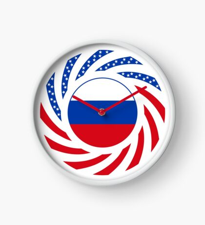 Russian American Multinational Patriot Flag Series Clock