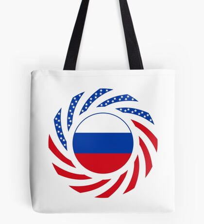 Russian American Multinational Patriot Flag Series Tote Bag
