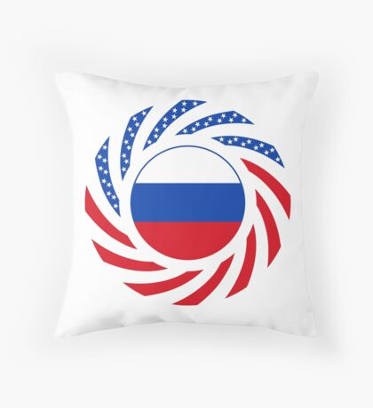 Russian American Multinational Patriot Flag Series Floor Pillow