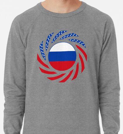 Russian American Multinational Patriot Flag Series Lightweight Sweatshirt