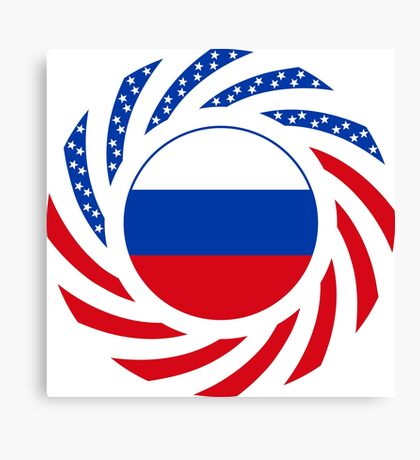 Russian American Multinational Patriot Flag Series Canvas Print