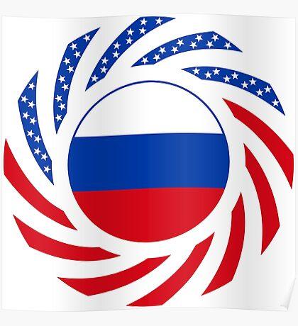 Russian American Multinational Patriot Flag Series Poster