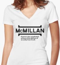 McMillan Company Fitted V-Neck T-Shirt