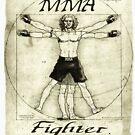 MMA Vitruvian Man Mixed Martial Arts by MudgeStudios