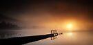 Loch Ard Jetty sunrise by David Mould