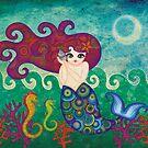 Moonface Mermaid by sandygrafik
