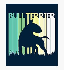 Cute Bull Terrier Silhouette Photographic Print