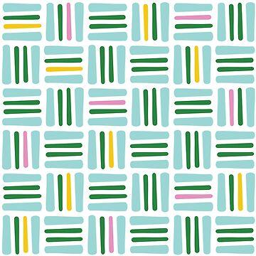 Seamless Stripes Nordic Christmas Pattern by artworkbyrihen