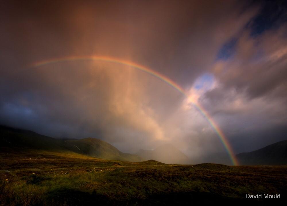 Rainbow over  Buachaille Etive Mor, Glencoe by David Mould