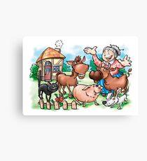 In the Grandma's Farm Canvas Print