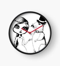 From This Day Forward - Mr and Mrs Rat (Single Color Version) Clock
