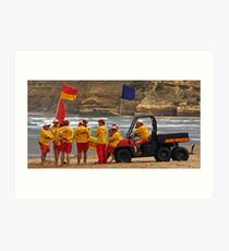 Jan Juc SLSC Legends Patrol Art Print