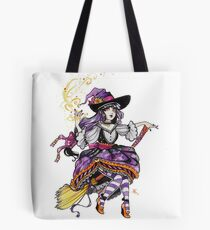 Inktober-Purple Witch Tote Bag
