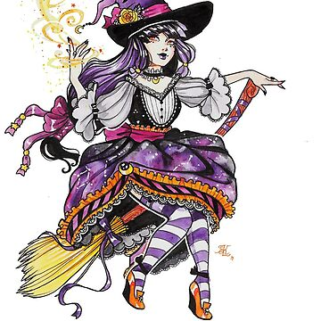 Inktober-Purple Witch by FaerytaleWings
