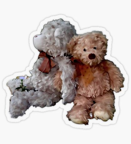 Teddy Bear Buddies Transparent Sticker