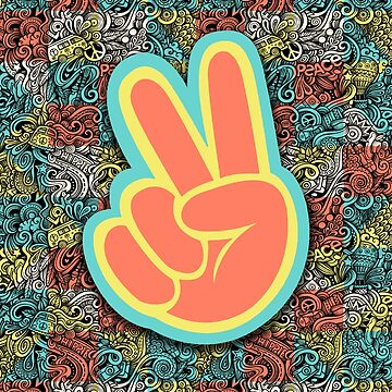 Geometric Hippies for Peace by catalystdesign