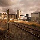 Geelong Grain Terminal - Rear View by Jack Jansen