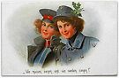 Patriotic girls in WWI military uniforms by edsimoneit