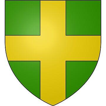 French France Coat of Arms 15333 Blason ville fr Saint Ybars Ariège by wetdryvac