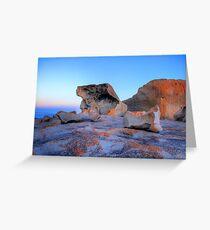 Remarkable Rocks at sunset on Kangaroo Island Greeting Card