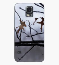 Winter Leaves with Water Drops Case/Skin for Samsung Galaxy
