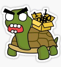angry zombie packet tortoise Sticker